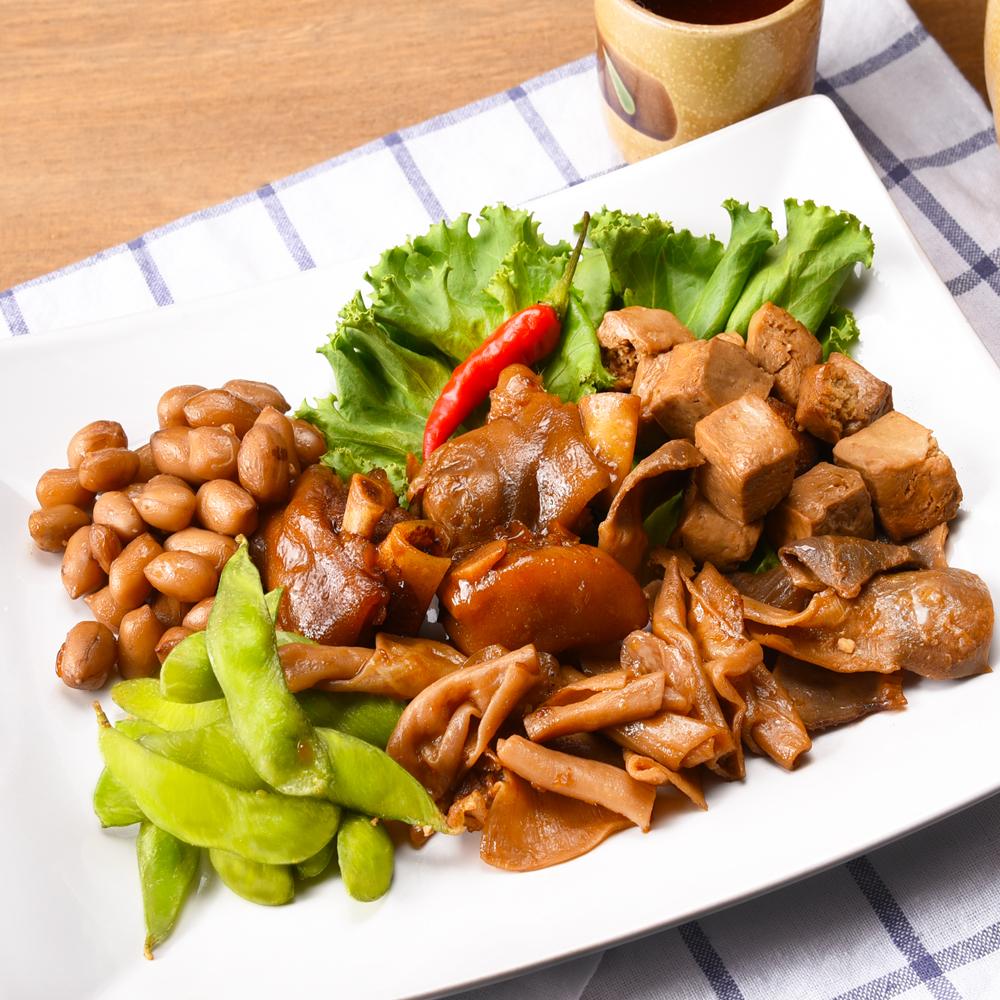 即食滷味_綜合六拼 主廚蜂蜜滷味盤<br>300公克/盤